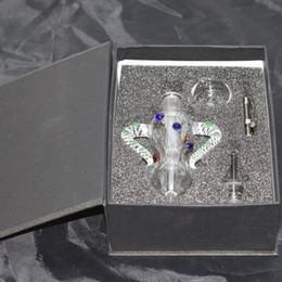 $enCountryForm.capitalKeyWord Australia - Nectar Collectors kits with Titanium Tip 14mm GR2 Titanium Mini Glass Pipe Oil Rig Honey Straw Concentrate Honey Dab Straw Glass Bong