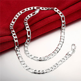 $enCountryForm.capitalKeyWord Canada - Hot sale flat three men a necklace sterling silver plate necklace STSN032,fashion 925 silver Chains necklace factory sale christmas gift