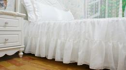 $enCountryForm.capitalKeyWord Canada - Korean high-grade pure cotton satin chiffon bed skirt cover Princess bedroom bed skirt New Pure White Chiffon Dress Skirt
