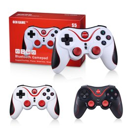 iphone tv box UK - Newest S5 Wireless Bluetooth Game Controller Gamepad Joystick Remote Control for Android IOS iPhone Android Tablet PC TV Box High Quality