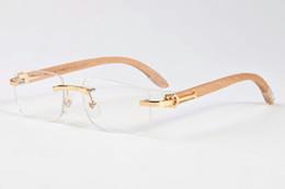 Discount mens wood sunglasses - 2018 new retro classic style mens sport sunglasses famous brand designer wood sunglasses rimless glasses the best qualit