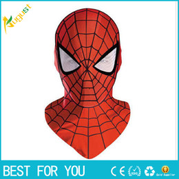 $enCountryForm.capitalKeyWord NZ - New hot 1pcs Halloween Cosplay Costume marvel bounce spider man mask for adults or children Full Face Mask