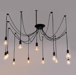 $enCountryForm.capitalKeyWord NZ - Vintage DIY Nordic Spider Pendant Lamp Multiple Adjustable Retro Pendant Light Loft Classic Decorative Fixture Lighting Led Home