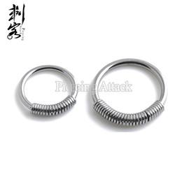 Lip Piercing Wholesale NZ - 2016 New Style Steel Spring Wire Captive Ring BCR Body Piercing Jewelry Lip Larbret