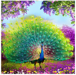 peacock christmas decor UK - 3D DIY Diamond Embroidery,5D Diamond painting,Diamond mosaic,peacock,needlework,Crafts,Christmas,decor