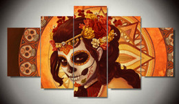 Painting Faces Canada - Framed Printed Day of the Dead Face Group Painting room decor print poster picture canvas decoration Free shipping F 979