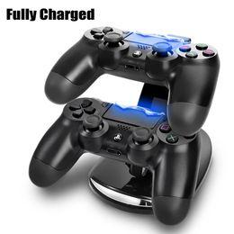 DOPPELN Sie neue Ankunft LED USB ChargeDock Dockingstation-Standplatz für drahtloses Spiel-Prüfer-Aufladeeinheit Sony-Playstation 4 PS4 im Angebot