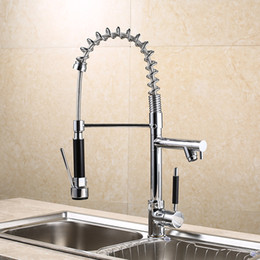 Chorme Polish Kitchen Tap Deck Mounted Sink Faucet Single Handle Mixer  Faucet Multi Functional Kitchen Faucets Can Stretch Chrome Faucets