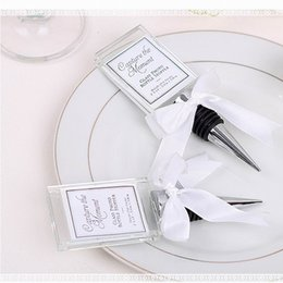 High Quality Crystal Photo Frame Bottle Stopper Wine Wedding Favor Souvenirs