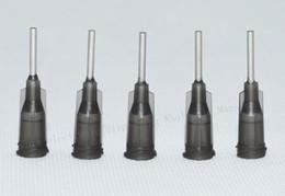 Hot melt fiber online shopping - G W ISO standard Dispensing needles PP luer lock hub inch tubing length precision S S dispense blunt tips