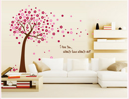 tree bedroom wall stickers UK - home decor decals Poster house Sticker Removable vinyl wall stickers Peach Tree large Wall paster