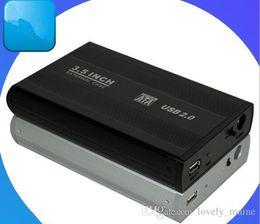 $enCountryForm.capitalKeyWord Canada - Wholesale 50pcs up 3.5 inch USB 2.0 HDD SATA Hard Disk Drive Enclosure Case, Free Shipping