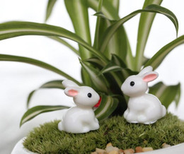 $enCountryForm.capitalKeyWord Canada - Micro Landscaping Animal Resin Rabbit for Miniature Fairy Garden Patio Home Houses Decoration and Mini Craft DIY Accessories