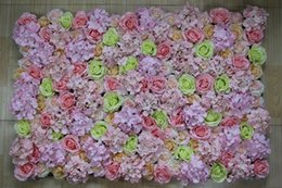 Decoration flower oil painting online shopping - hot color oil painting Artificial silk rose flower wall wedding background lawn pillar road lead market decoration