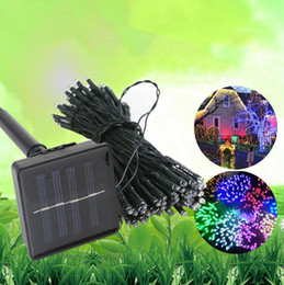 purple outdoor solar string lights Canada - Solar Lamps LED String Lights 50 100 200 LEDS Outdoor Fairy Holiday Christmas Party Garlands Solar Lawn Garden Lights Waterproof