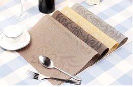 $enCountryForm.capitalKeyWord Canada - 9 Style Placemat fashion pvc dining table mat disc pads bowl pad coasters waterproof table cloth pad slip-resistant pad