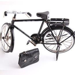 Model Bicycle Canada - Black Metal Bicycle Model and mini lighter simulation Toy Gift decoration