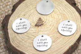 Squishy Charms Wholesale Australia - 10pcs lot i shall call you squishy charm silver tone message charm pendant 20mm