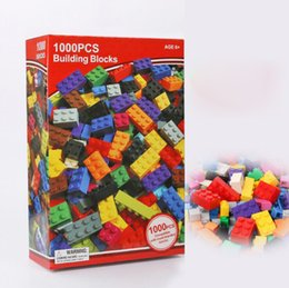 free education for children 2018 - Models 1000pcs DIY Blocks Creative Education Building Bricks Toys for Children Free Shipping Diy Block Bricks