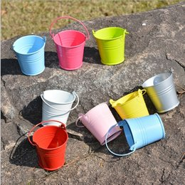 tin buckets favors 2018 - 10 colors available Sweet Candy Tin Pails Mini favors Tin candy gift package Mini Bucket Weddin  party Favors discount t