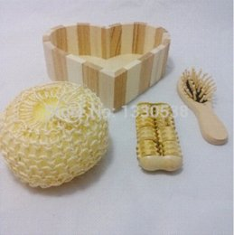 discount wooden bathroom accessory sets new fashion bathroom accessories wooden bath set 3 pieces cleansers hair