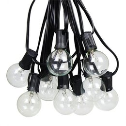 String Lights 25Ft Clear Globe Bulb G40 String Light Set With 25 G40 Bulbs  Included Patio Lightsu0026Patio Holiday Lights G40 Bulb String Lamp