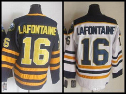 5c577648ee3 ... 2016 16 PAT LAFONTAINE Jersey Buffalo Sabres Throwback Hockey Jerseys  1992 CCM Vintage Home Navy Blue .