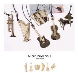 New Fashion 18K Gold Plated Bookmarks Golden Metal Paragraph Creative Bookmarks Wedding Supplies musical instrument Music Is My Soul Trumpet on Sale