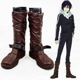 hand made shoes NZ - Popular Anime COS Nuovo Noragami Yato Cosplay Accessories BOOTS Shoes Halloween High Quality Hand Made Chrismas