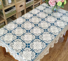 rectangular linen tablecloth Canada - New Arrival ~ New crochet pattern table cover oblong, hand crochet table topper, rectangular tablecloth, handmade table linen for home decor