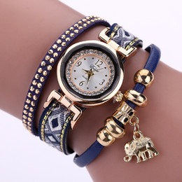 $enCountryForm.capitalKeyWord Canada - Duoya Brand Gold Alloy Crystal Fashion Bracelet Watch Gold elephant Women Casual Jewelry Clock Female Dress Quartz Electronic Wristwatch