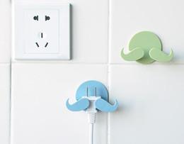 $enCountryForm.capitalKeyWord Australia - Mustache Plastic Door Hanger Wall Sticky Hooks Beard Shape Hanger for Keys Jewelry Sundries Plug Kitchen Hook for Towel Rack
