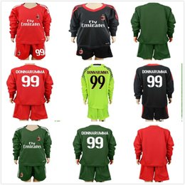 7bbcb1460 ... sweden 2017 2018 long youth kids ac milan goalkeeper soccer jersey 99  donnarumma kids ac milan