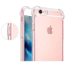 Clear Gel Iphone Cases NZ - Shockproof Transparent Case for iPhone X 8 7 6 6S Plus Soft Gel TPU Case Clear Back Cover