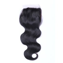 $enCountryForm.capitalKeyWord UK - Body Wave Silk Base Closure Unprocessed Brazilian Indian Malaysian Peruvian Human Hair Natural Color 8-22inch in Stock DHL Free Shipping