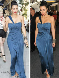 $enCountryForm.capitalKeyWord Australia - Free Shipping Sexy Kim Kardashian Evening Dresses One Shoulder Floor Length Long Evening Gowns Celebrity Dresses Vestidos De Fiesta