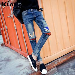 Skinny Jeans For Plus Size Men Canada - Wholesale-2016 Brand Jeans for Men Fashion Zipper decoration Skinny Fit Jeans For Male,Distressed Fashion Mens Denim Pants Plus Size 28-33