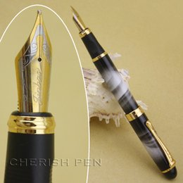 New Jinhao x450 Black Lacquer Medium Fountain Pen with Gold Trim Collectables UK Seller