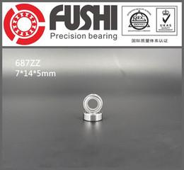 Shield Ball NZ - 687ZZ ABEC-1 (10PCS) 7x14x5MM Miniature Ball Bearings 618 7ZZ shielded deep groove ball bearing 7*14*5mm 687Z
