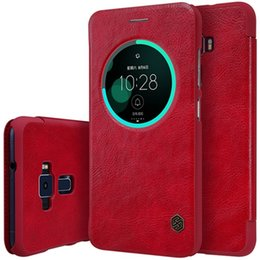 China 1pc Original Nillkin Ultra Thin Qin PU Leather Flip phone Case cover Skin inside card slot for Asus Zenfone 3(ZE552KL) 4 colors suppliers