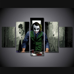 Art Canvas Prints Australia - 5 Pcs Set Framed Printed The Movie Joker art Painting Canvas Print room decor print poster picture canvas Free shipping ny-4337