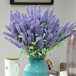 provence lavender wholesale Canada - Popular items!! 12 Heads Provence foam Lavender wedding supplies wholesale Artificial Plants flower decoration flower simulation