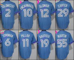 e4e14cd85 ... blue jays 2 troy tulowitzki light blue 6 marcus stroman light 10 edwin  encarnacion 2016 Toronto Blue Jays jersey 10 Edwin Encarnacion 11 Kevin  Pillar ...