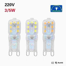 $enCountryForm.capitalKeyWord NZ - 1Pcs G9 LED Bulb 220V 3W 5W LED Light SMD 2835 Dimmable Bulbs SpotLight leds 360 Beam Angle Replace Halogen lighting