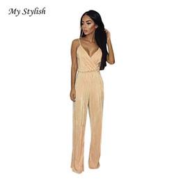 2b535e96545 Wholesale- Womens Playsuit 2017 New Fashion Womens V-Neck Jumpsuit Ladies  Evening NightOut Party Playsuit High Quality Plus Size Dec 16