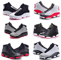 Cheap Kids 13 Shoes Children Basketball For Boys Girls Black Sports Shoe Toddlers Athletic Birthday Gift