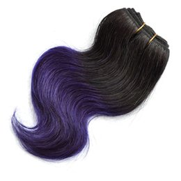Cheap purple human hair extensions nz buy new cheap purple human cheap 4 bundles body wave brazilian hair weave short bob ombre 1b purple two tone 7a body wave human hair extensions 200g pmusecretfo Images