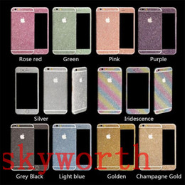 Back glitter iphone sticker online shopping - For iPhone SE s plus for Galaxy S5 S6 S7 edge Note Bling Diamond Glitter Sticker Shiny Front Back
