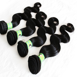 Human Hair Extensions Delivery Canada - Fast Delivery 8A Peruvian Hair Weave 10-28inch 4bundles lot Natural Color Body Wave Unprocessed Human Hair Extension Dyeable