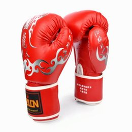 Mma Boxing Glove Canada - 1Pair PU guantes boxeo mma boxing gloves Mitts Mitten MMA Muay Thai Training karate Sandbag Taekwondo Protector For Kick Boxing